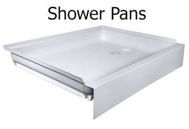 RV shower pans, Hex shower pan, curved shower pan