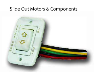 RV slide out components