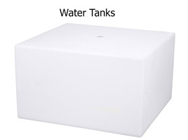 RV water tanks with free fitting placement